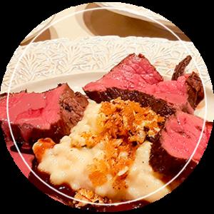 Kok aan Huis hoofdgerecht biefstuk