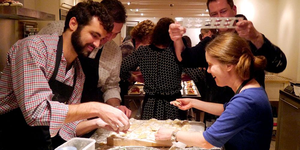 Kook workshop voor kookliefhebbers - in actie